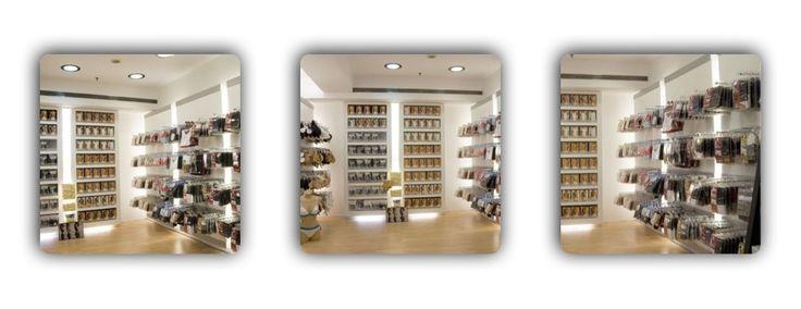 Дизайн магазина белья. Стильный современный проект, отличное решение для небольших помещений