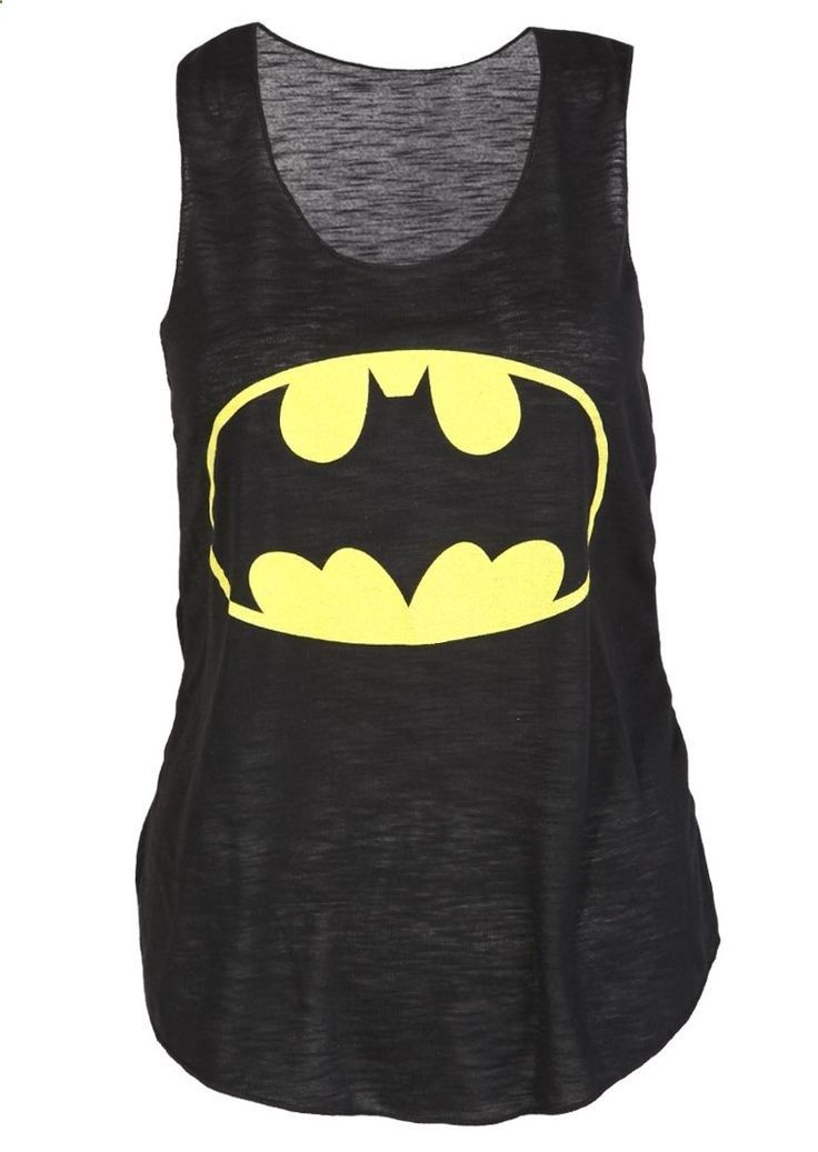Batman Casual Vest Top - Womens Clothing Sale, Womens Fashion, Cheap Clothes Online | Miss Rebel