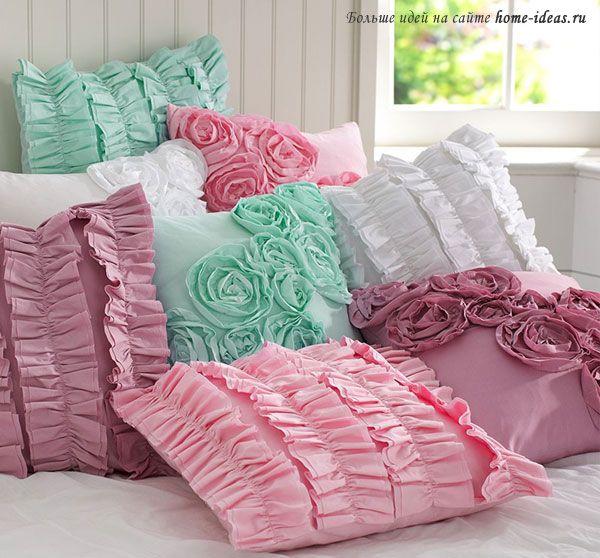 Легкие хлопчатобумажные декоративные подушки на лето