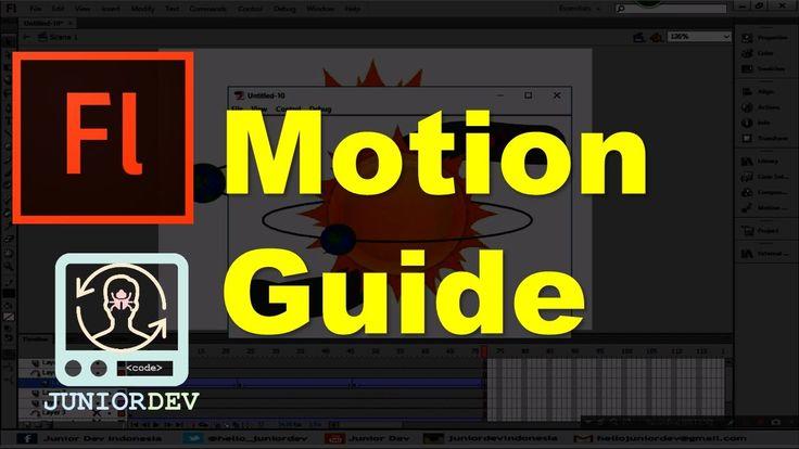 Belajar Adobe Flash - (13) Motion Guide / Motion Path | Animasi Mobil da...