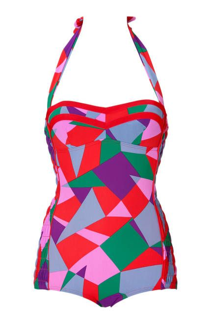 Hourglass Marc by Marc Jacobs Retro Swimsuit, $210; stylebop.com  Read more: Swimsuits for Body Types - Best Designer Swimsuit for Your Body Type - ELLE  Follow us: @ElleMagazine on Twitter | ellemagazine on Facebook