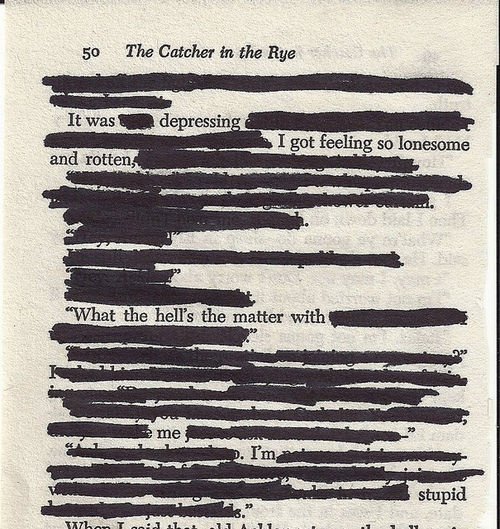 The Catcher in the Rye. This basically sums up the whole book. I despise Holden Caulfield.