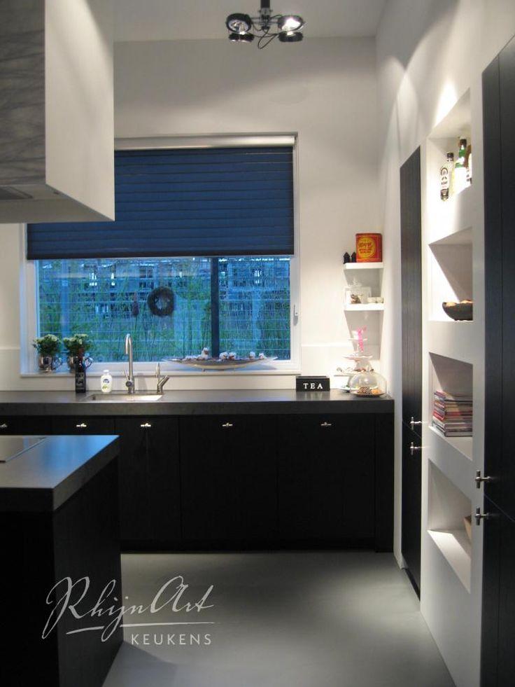 Rhijnart keukens veenendaal keukens stoere moderne landelijke zwarte keuken met hardsteen - Moderne keuken deco keuken ...