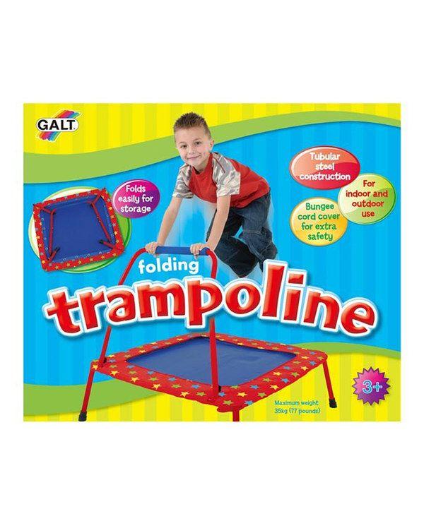 Loving this Folding Trampoline on #zulily! #zulilyfinds