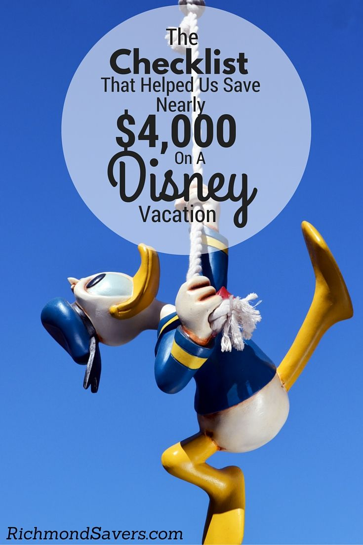 We want to show you how you can save BIG on your Disney Vacation. Instantly download the checklist! #disney http://www.richmondsavers.com/disney-guide