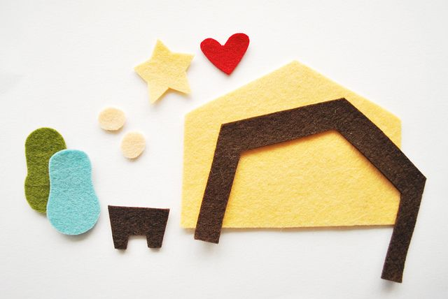 Felt Nativity Patterns | Wild Olive: ornamentation: the stable