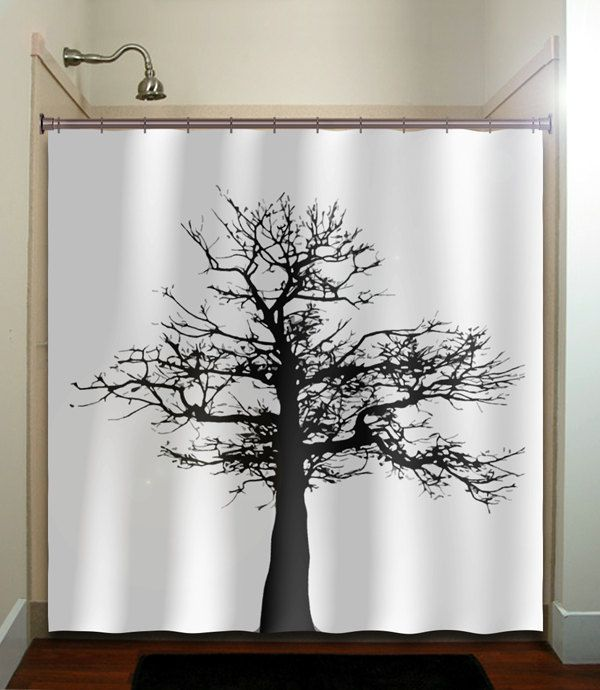 gray black tree shower curtain bathroom decor fabric kids bath white black  custom duvet cover rug - Best 25+ Tree Shower Curtains Ideas On Pinterest Pretty Shower