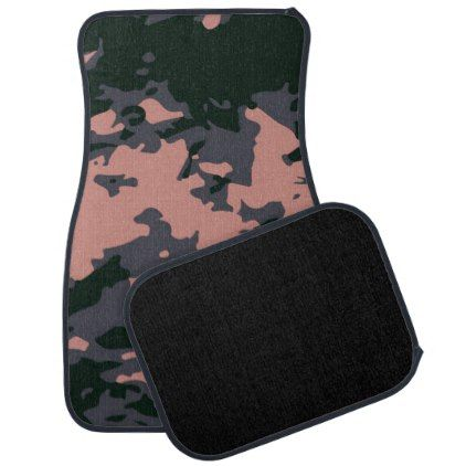 Pink Camouflage Design Car Floor Mat - girly gifts special unique gift idea custom