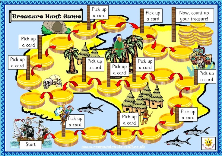 Treasure hunt board game Use this unique, pirate themed
