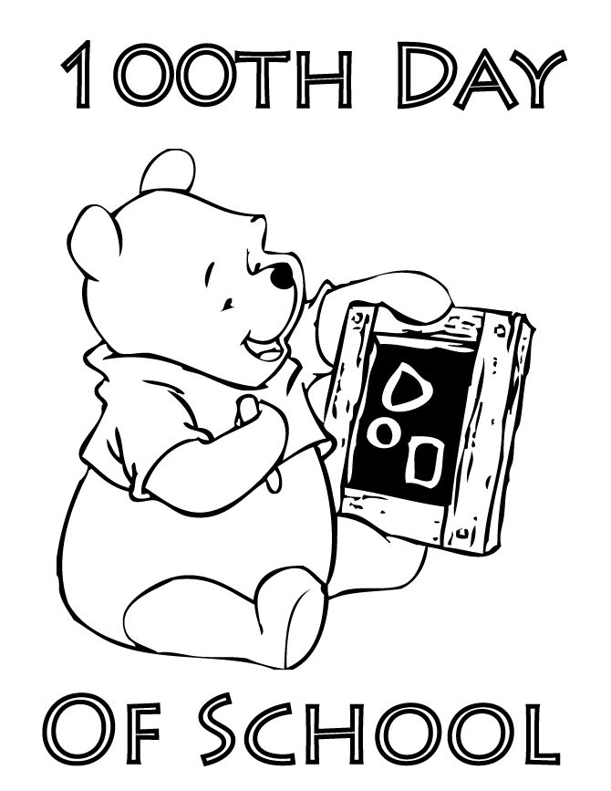 hundreth day coloring pages - photo#25