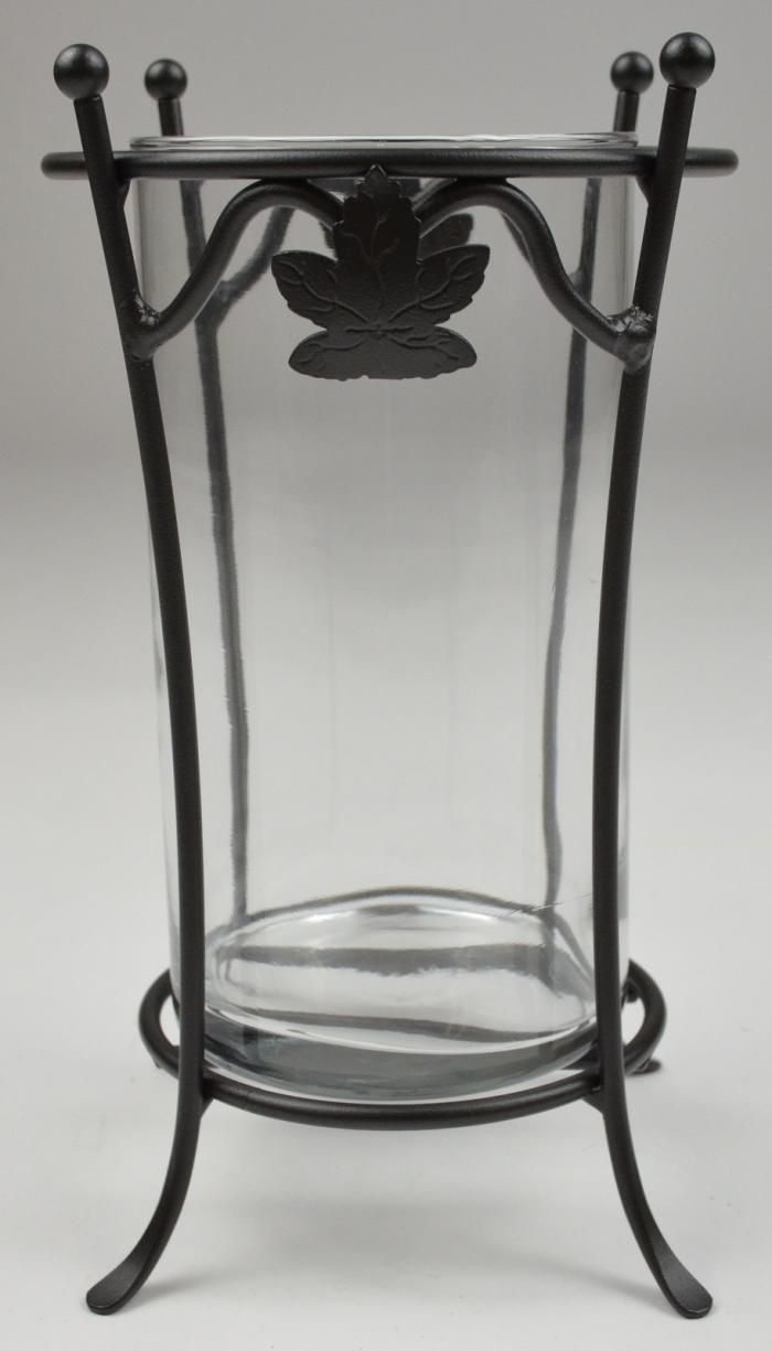 Tall wrought iron candle holders - Longaberger Wrought Iron Candle Holder With Glass Insert 8 Tall