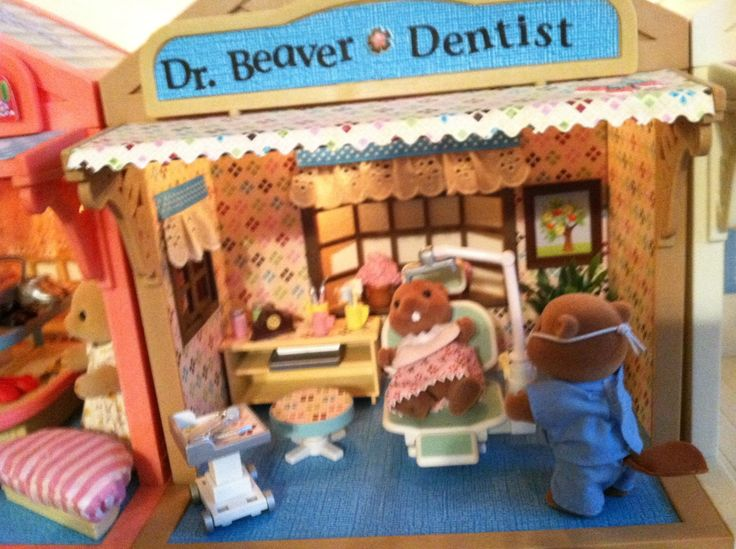 Dentist office, dr beaver,  I love to wallpaper and decorate my buildings.