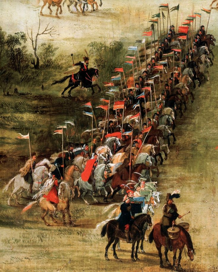Detail of Battle of Kircholm in 1605 by Pieter Snayers, 1620s (PD-art/old), Château de Sassenage, commissioned by Sigismund III Vasa