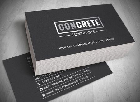 concrete contrastsl Gold Coast Logo, website and Letterhead and Stationary Design