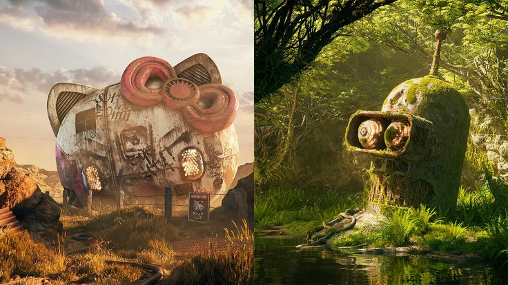 Filip wanted to learn how to use 3D painting software Substance Painter through this illustration series – but he also used a bunch of other tools. Find out how he did it.