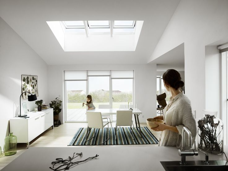Want a bigger kitchen? Simple. Remove the loft! You'll be grateful for that extra airy outdoor feeling instead of a forgotten space. Get help here to plan your new kitchen remodel with the VELUX planner: http://www.velux.com/products/project_and_planning/project_planning