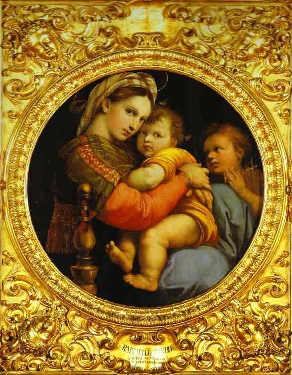Virgen de la silla, Rafael Sanzio (1513-14) Galería Palatina, Palacio Pitti, Florencia