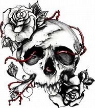 Image result for skulls and roses