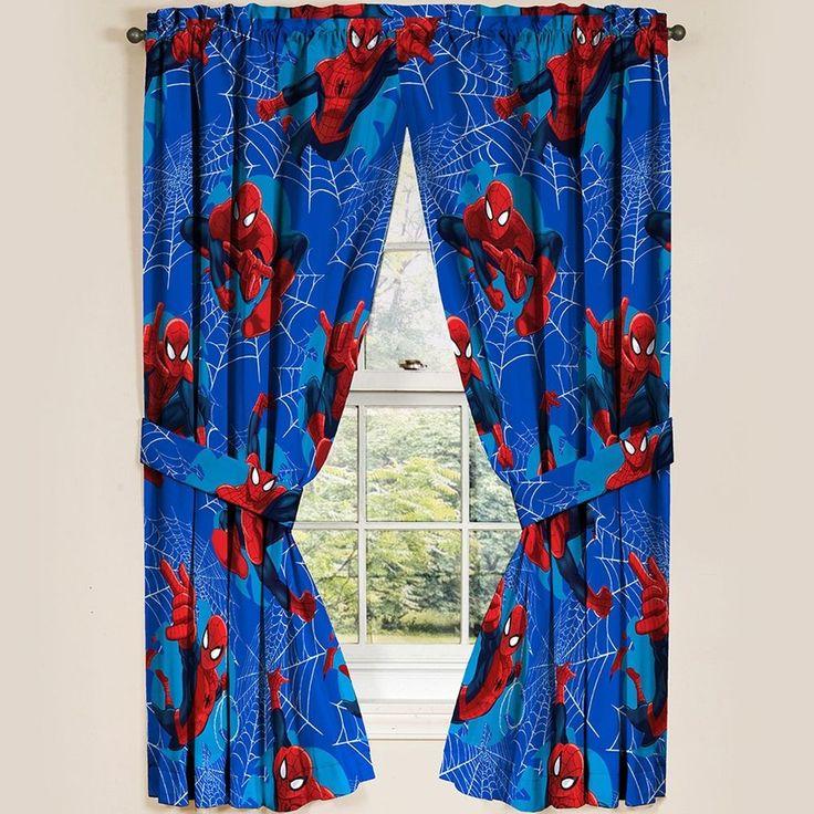 "Marvel Ultimate Spiderman Spider-Man Curtain Panels Drapes, Set of 2, 42"" x 63"" #Marvel"