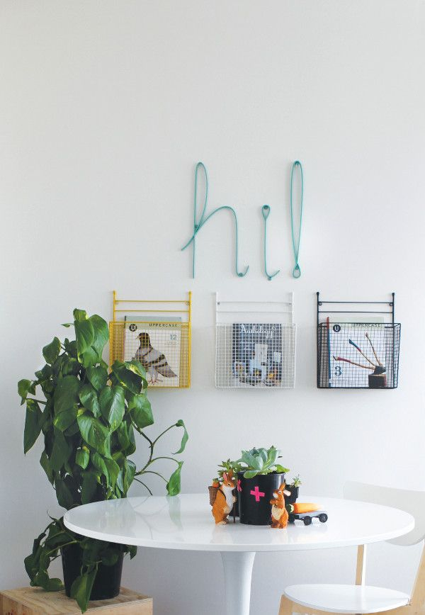 Home Storage | Wall-hung magazine holders from Down to the Woods | Home Ideas magazine