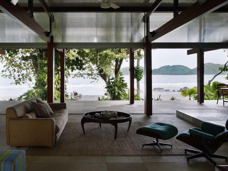ON THE BEACH: House In Praia Preta by Nitsche Arquitetos Associados. 5/23/2012 via ArchDaily