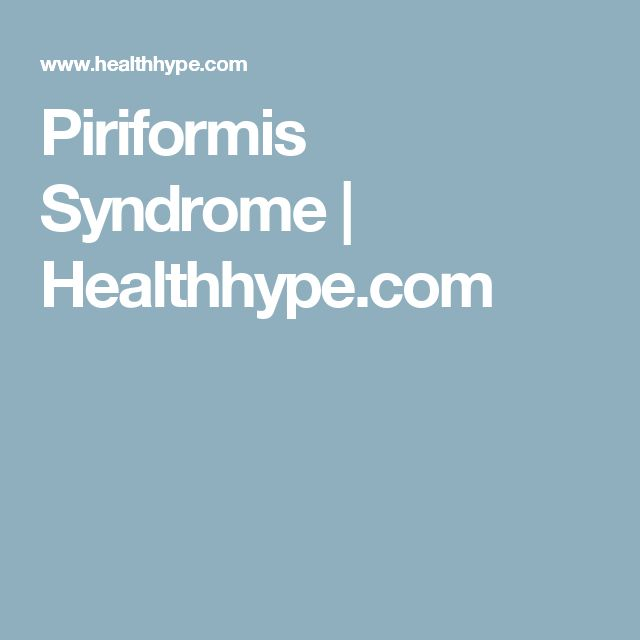 1000+ Ideas About Piriformis Syndrome On Pinterest