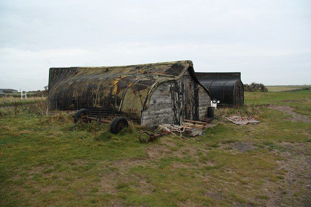 http://www.thevintagenews.com/2017/05/27/the-holy-island-of-lindisfarnes-traditional-sheds-made-of-upturned-fishing-boats/