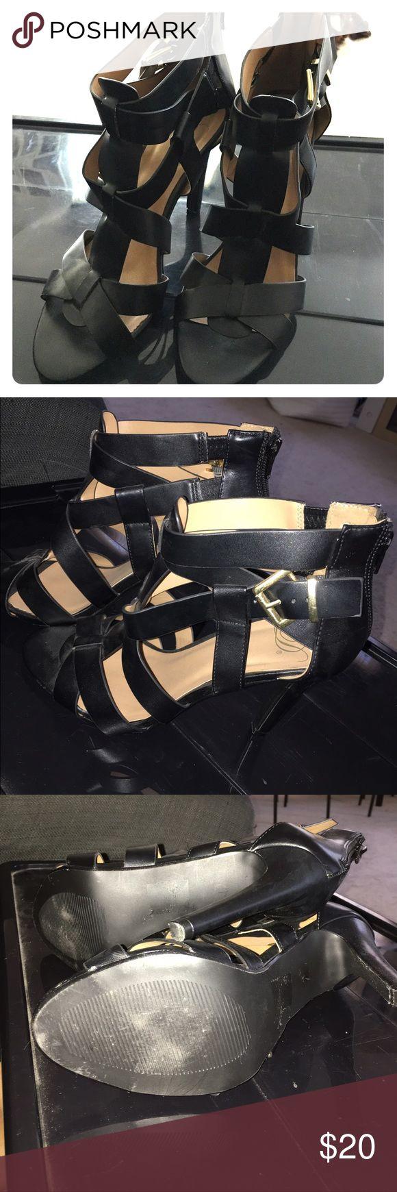 "Black gladiator sandal ~3"" heel gladiator style Shoes Heels"