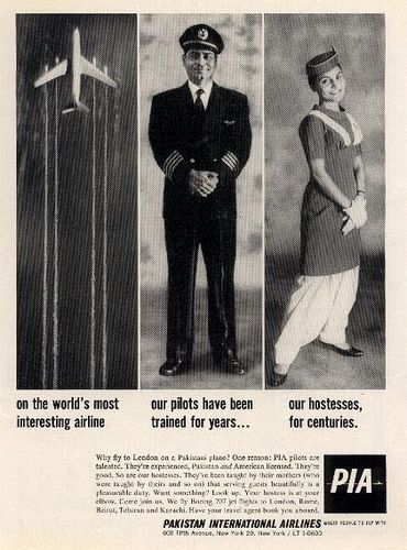 Most Interesting Airline (Pakistan International Airlines PIA ad 1962)