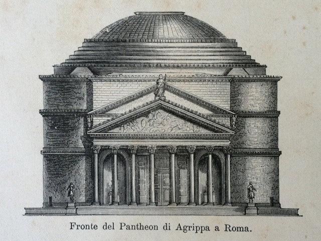 Roman Architecture Pantheon and more - Original Rare ...