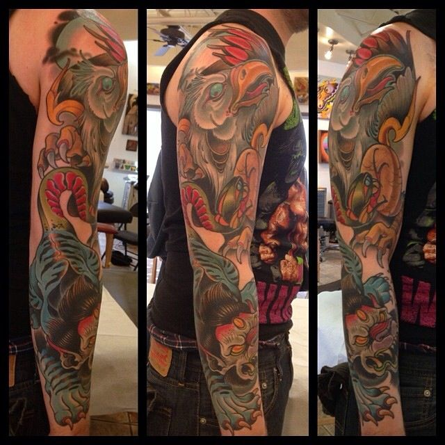 Colored Sleeve Tattoo Of Birds: 1000+ Images About Tattoo Artist David Tevenal On