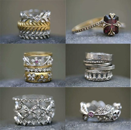Cathy Waterman sparklers...if I won the lottery I'd go nuts buying her pieces....MCS