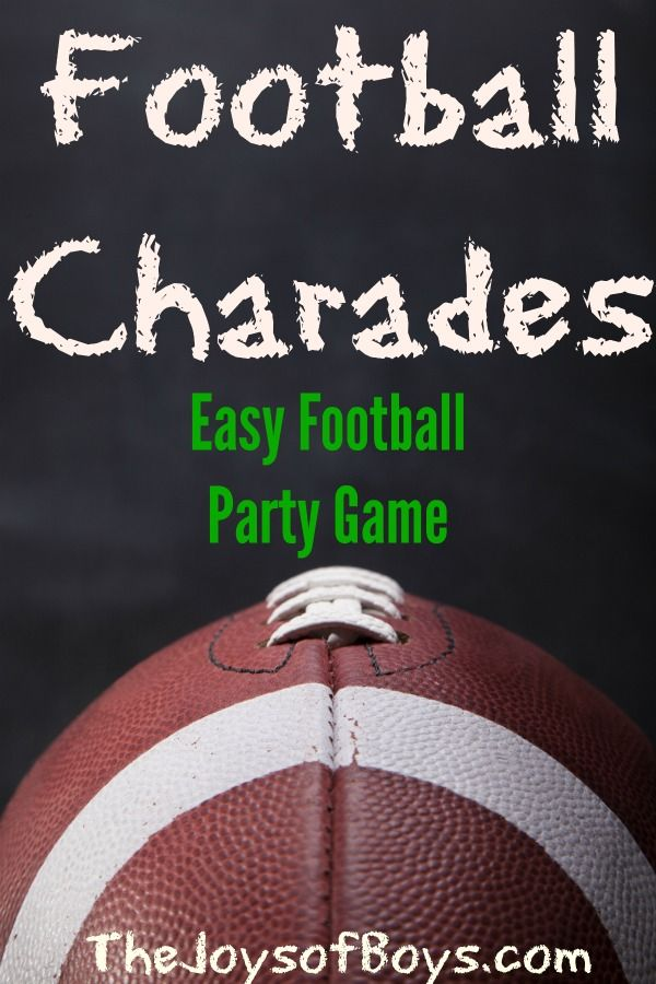 Football Charades:  The Perfect Football Party Game- The Joys of Boys