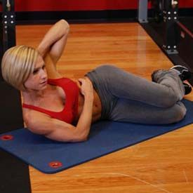 Oblique Crunches - On The Floor Exercise Guide and Video