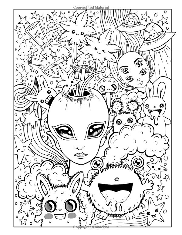 Trippy Stoner Girl Coloring Pages - Novocom.top