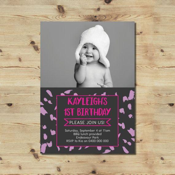 1st Birthday Invitation  Custom Made Invitation  Printable