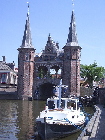"Nice places to moor, this is the ""waterpoort"" in Sneek, a very well know watersports village in Friesland, the Netherlands"
