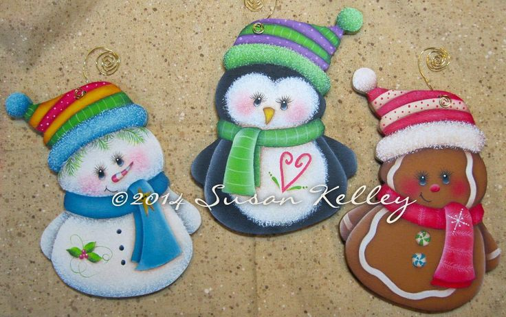 Ornament Trio (Set of 3) - Hand Painted