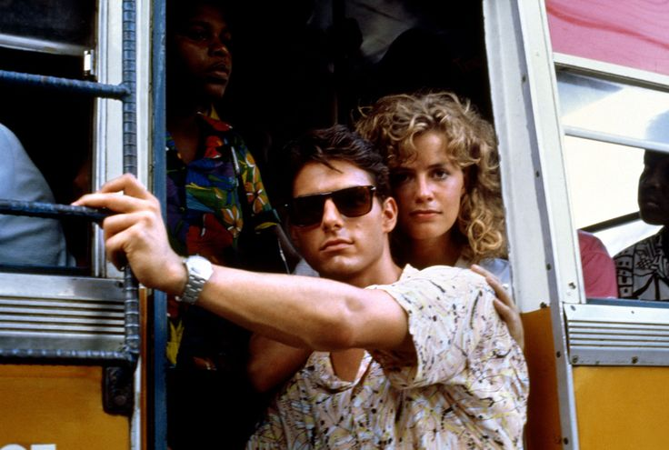 Tom Cruise and Elisabeth Shue on the set of Cocktail 1988