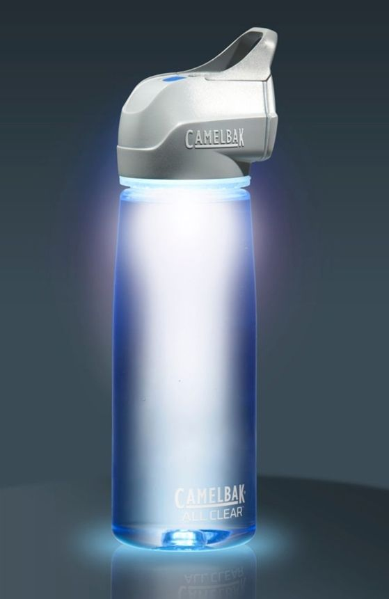 Incredible portable water bottle that purifies the bacteria while out in the wilderness.