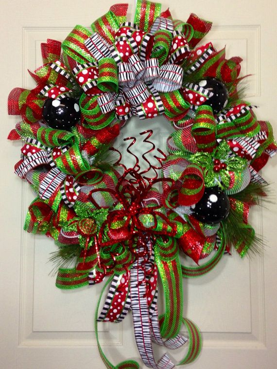 Charming Christmas Mesh Wreath