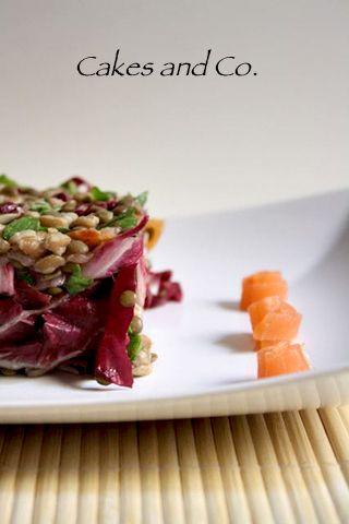 Insalata lenticchie e salmone