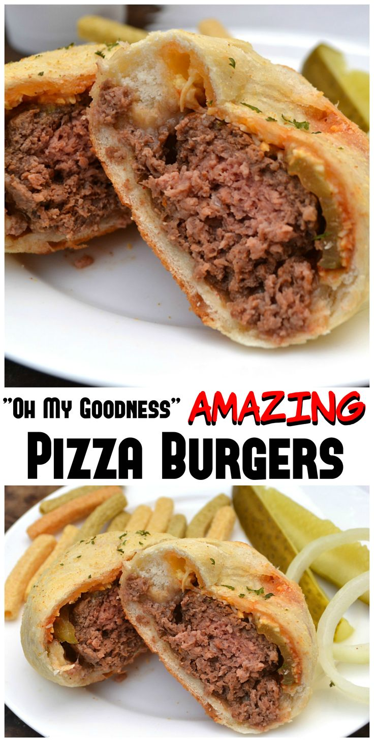 Pizza Burgers AKA Mini Cheeseburger Stromboli | A juicy homemade burger topped with cheese, French's Ketchup, mustard & pickles wrapped in fresh pizza dough | Fun, delicious & simple to make | #KetchupWithFrenchs #ad | www.craftycookingmama.com