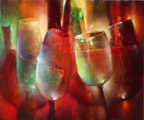 """Annette Schmucker, """"Zu später Stunde II"""" With a click on 'Send as art card', you can send this art work to your friends - for free!"""