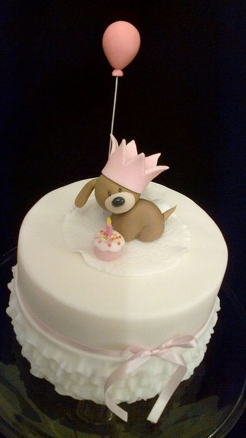 Tarta perrito cumpleaños