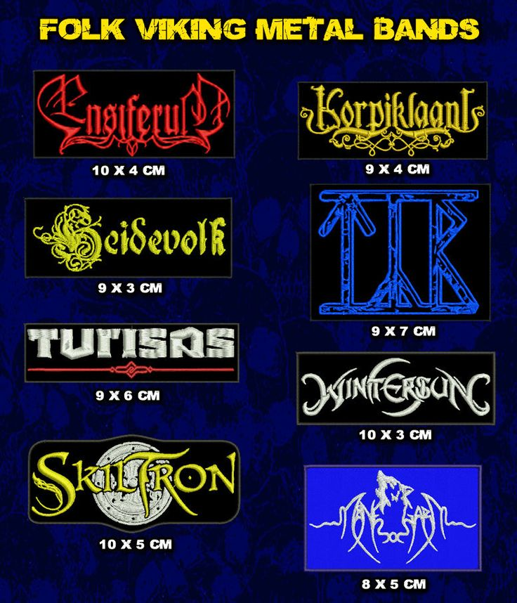 Patch Folk Viking Metal Bands, Ensiferum, TYR, Turisas, Korpiklaani, Heidevolk | eBay