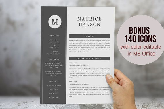 17 best Chic , modern resume / CV templates images on Pinterest - modern resumes