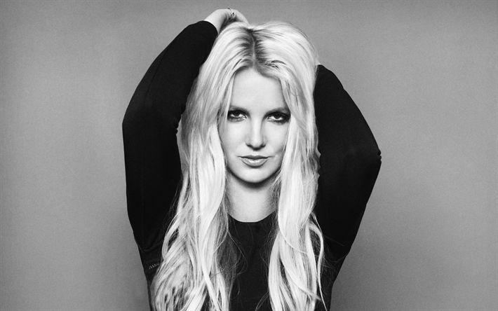 Descargar fondos de pantalla Britney Spears, la cantante de pop estadounidense, retrato, rubia, hermosa mujer
