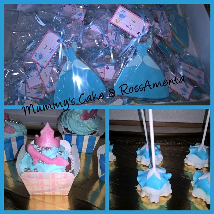 Cinderella cake pop, cupcakes e cookies