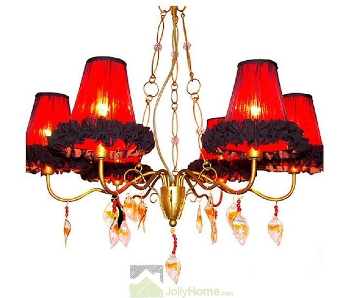 Classical Red Petunia Fabric Pendant Lights for Wedding  $162.58